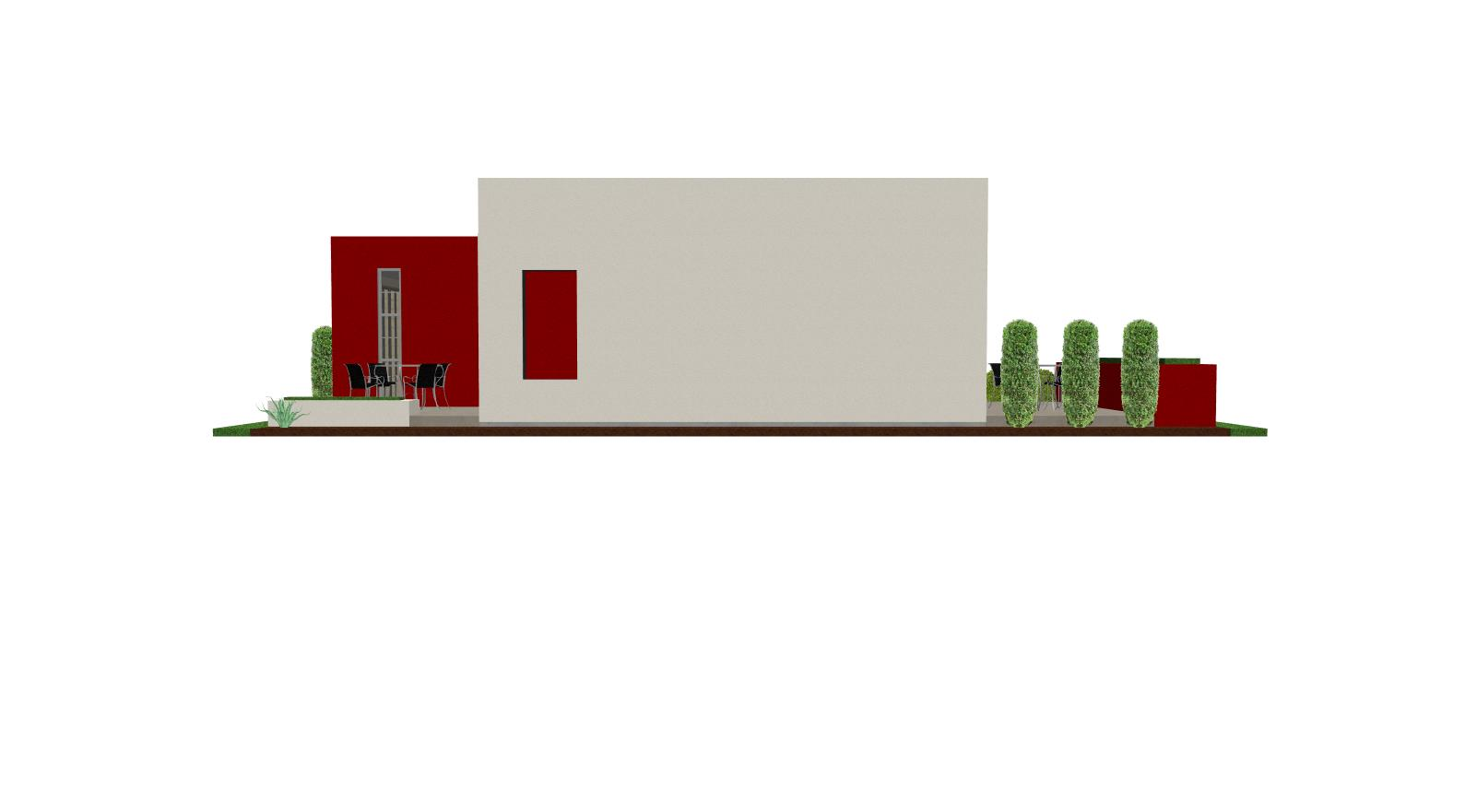 contemporary casita house plan  small house plan  small