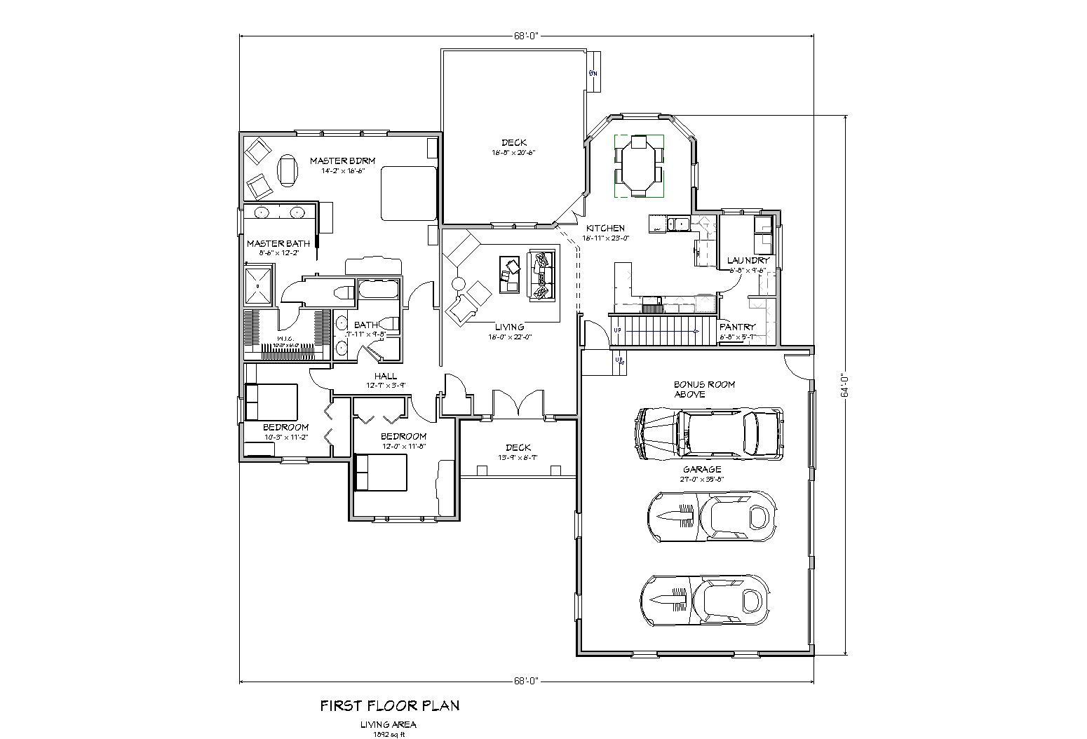 3 Bedroom Ranch Floor Plans Two Bedroom Ranch House Plans. 3 Bedroom Ranch Floor Plans   Paigeandbryan com