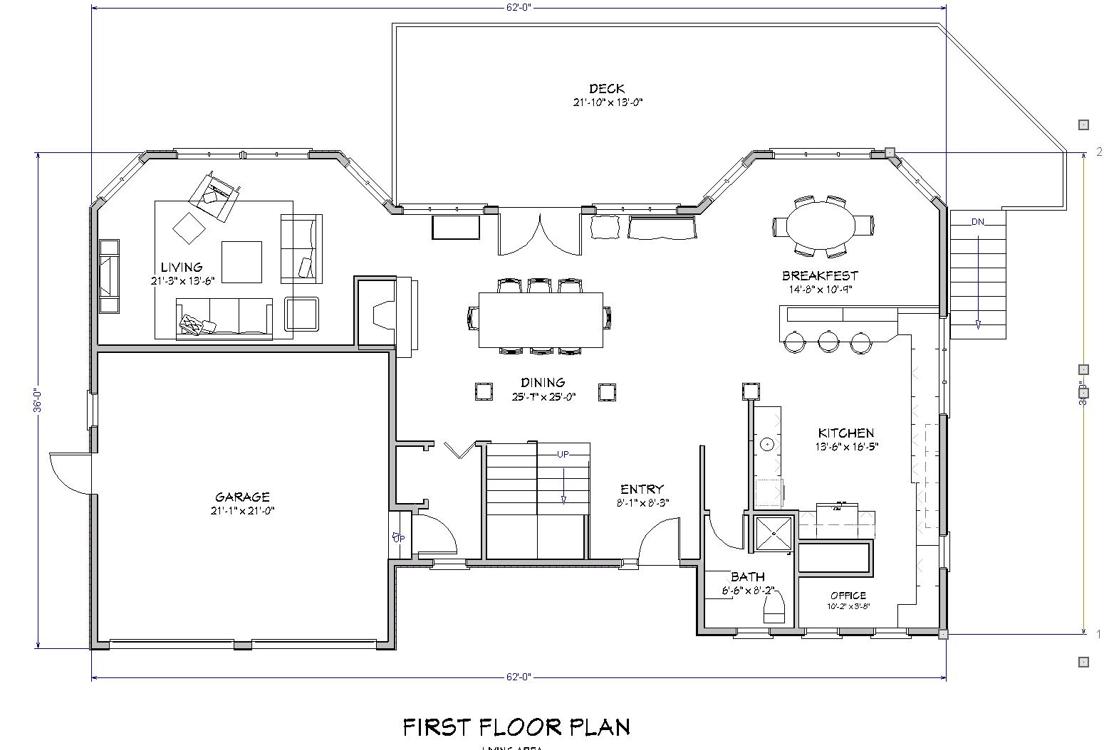 Floor plans beach house front